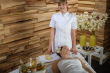Fotografie Female masseur give beauty treatment luxury spa