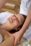 Fotografie Woman neck massage at luxury spa