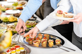 Fotografie Snacks buffet at business company meeting
