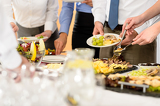 Fotografie Business catering food for company celebration