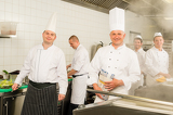 Fotografie Professional kitchen busy team cooks and chef