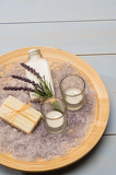 Provence style aromatherapy lavender cosmetic products