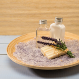 Natural spa products lavender