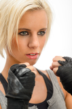 Photo Kickbox blond woman ready to fight