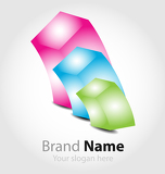 Brand logo in candy color palette