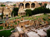 Roman Forum and Basilica Maxentia or Constantine, Rome.