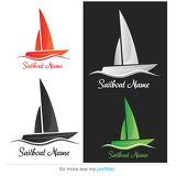 Company (Business) Logo Design, Vector,   Sailboat
