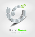 Photo Brand logo in ecology color