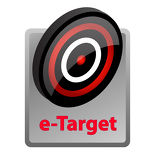Photo e-target advertisement icon