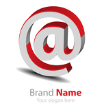 Vector brand red-grey3D logo