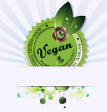Illustration of vegan background