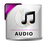 Fotografia Audio download button/icon
