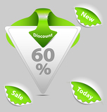 Photo Green  discount sale labels