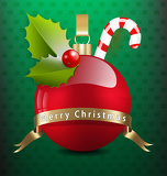 Photo Christmas background with various decors