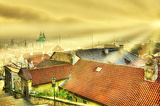Photo Prague Old Town lighted by sun