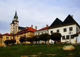 Fotografie Kremnica, town castle and the Church of St. Catherine, Slovakia.