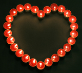 Fotografie candles heart