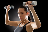 Fitness woman young sportive weights exercise