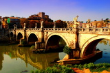 Fotografie Rome. Angelic bridge. Vatican City - Italy.