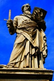 Fotografia Angelic bridge, statue apostle Paul and Peter. Rome - Italy.