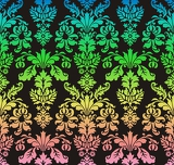 rainbow damask on the dark background