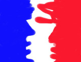 french flag - abstract