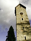 Photo tower of church in Karpacz