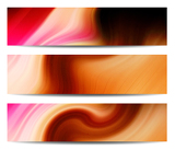 Fotografia Creative header/banner set from abstract handpainting acrylic on canvas