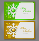 Fotografia Christmas gift Cards with gems