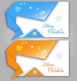 Origami Christmas greeting cards