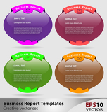 Presentation template with empty boxes