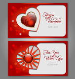 Valentines gift card set