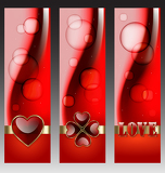 Valentine day decorative banners