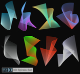 Vector 3D spirals set for creative needs in design, page layout, web or hobby