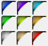Photo Originally designed collection of colored vector corners for multipurpose use in design.