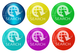 Fotografia Search web button colored set