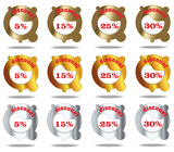 Metallic discount icon/labels