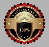 Fotografie Safe product guarantee label