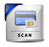 Fotografia Originally designed scan button/icon