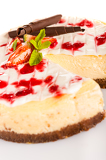 Fényképek Strawberry cheese cake fresh dessert creamy delicious