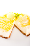 Fotografia Lemon cheesecake delicious pie baked dessert