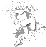 Fotografie dancing guy on the white splashy background