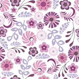Fotografie Seamless floral vector background