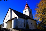 Autumn. Village church and cemetery. Great Fatra - Slovakia.