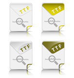 Fotografie TTF file type icon