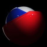Fotografia Flag, Emblem, Republic, State, Tricolor, Sphere, Czech, National