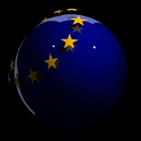 Fotografie Flag, the Union, the States, Stars, Balls, Europe, Ntional