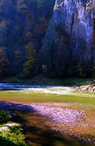 Autumn. Dunajec river. National park Pieniny and reservations. Slovakia.