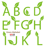 Fotografie Eco-related decorative alphabet