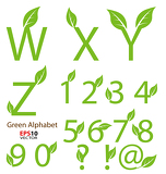 Eco-related decorative alphabet